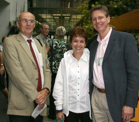 Bret Evans, Publisher Canadian Coin News; Mary-Lynn and Paul Winkler, Trajan Pulbishing Corporation